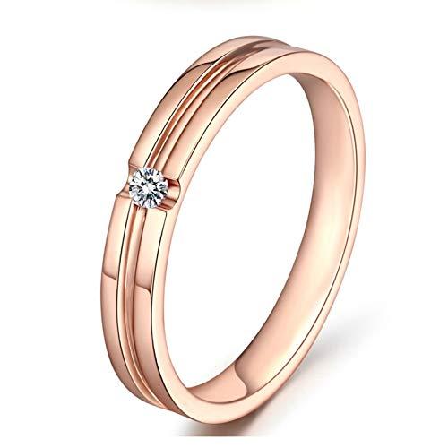 AmDxD oro rosa de 18 K round-brilliant-shape White Diamond