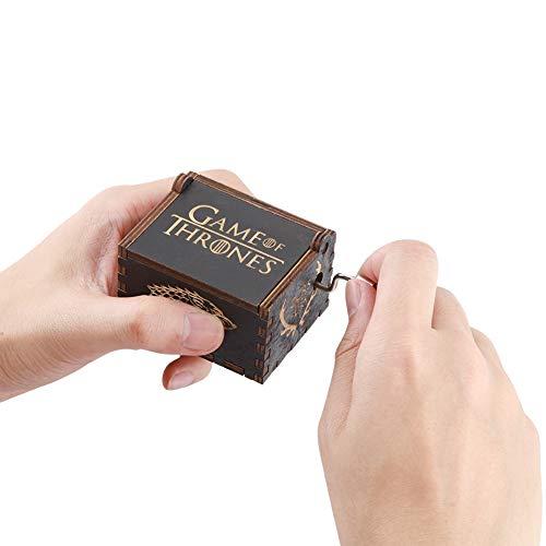 TOPINCN Houten Muziek Box Hand Crank Vintage Antieke Graveren Speelgoed voor Kinderen Muziek Box Geschenken
