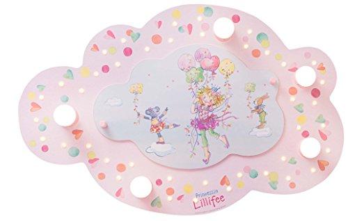Elobra Kinderzimmerlampe Prinzessin Lillifee Ballonschaukel, Deckenleuchte, Holz, rosa, 130995