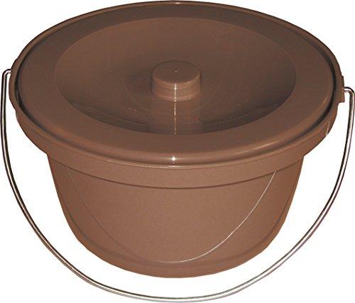 Pflegehome24® Toilettenstuhleimer universal, Braun, Geruchsverschluß - Toiletteneimer