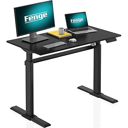 Fenge 電動昇降デスク スタンディングデスク 無段階昇降デスク 高さ調節 パソコンデスク 天板入り セット商品 ED-S48102WE