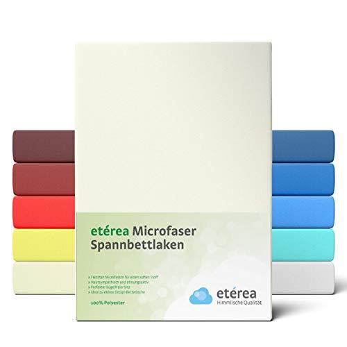 #3 Etérea Classic Microfaser Interlock Kinder-Spannbettlaken, Spannbetttuch, Bettlaken, 60x120 - 70x140 cm, Nature