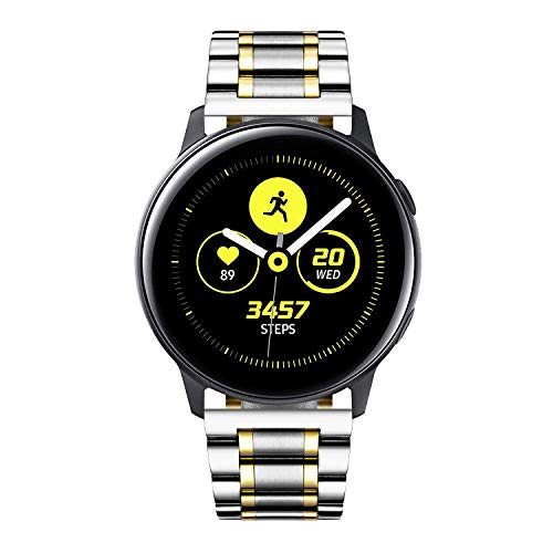 BINLUN Bandas de Reloj Compatibles con Samsung Galaxy Watch 42mm Active 2 20mm Banda de Acero Inoxidable Reemplazo Business Metal Watch Correas
