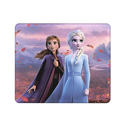 Alfombrilla de ratón Elsa de dibujos animados de gran tamaño antideslizante almohadillas de goma inferiores ultrafinas para oficina y hogar