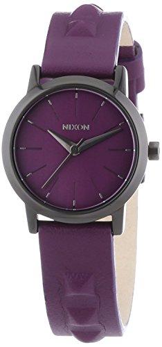 Relógio feminino Nixon A398-1812 The Kenzi de couro Bordeaux