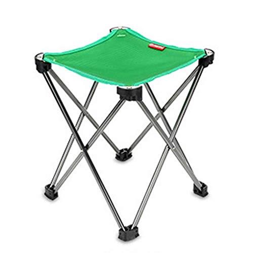 XYFJD Tragbare Outdoor Klappstuhl Hocker Ultraleicht Camp Fußstütze Faltbare Aluminium Stuhl Hocker Für Camping Angeln Freizeit Stuhl (Color : Green)