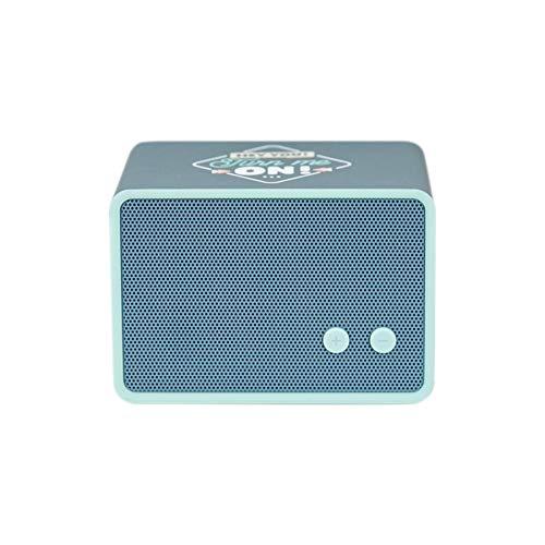 Mr. Wonderful Altavoz Bluetooth Inalámbrico con diseño Hey You! Turn me on! con 3-4 Horas de autonomía, Forma Rectangular y Color Azul