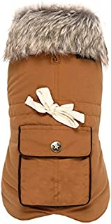 Wouapy 90073 Army Dog Coat, Mustard, XX-Small