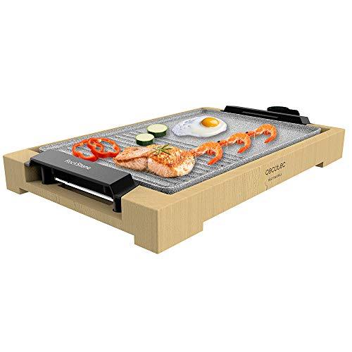 Cecotec Plancha de asar eléctrica Tasty&Grill 2000 Bamboo MixStone. 2000 W, Estructura...