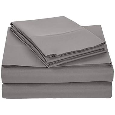 AmazonBasics Microfiber Sheet Set - Full, Dark Grey