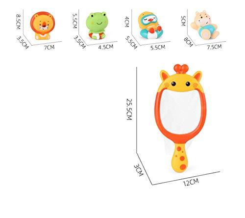 Waymeduo Baby Bad Spielzeug Kinder Schwimmspielzeug Giraffe Fischernetz Dinosaurier Handbetriebenes Spray Bad Spielzeug Set Baby Bad Angeln Schwimmspielzeug Giraffe 25 * 3 * 12cm