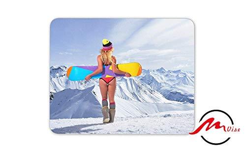 ZMvise Snowboarder Background Modisches Cartoon-Mauspad Matte Fashion Muster Custom Rechteck Gaming Mauspad