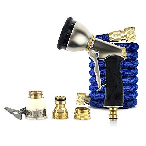 Pistolet de laveuse à Pression 3 Fois télescopique Tuyau Accueil Mousse Jardin Arrosage Car Wash Water Gun Set Gun Nettoyeur Haute Pression (Couleur : Bleu, Size : 75ft)