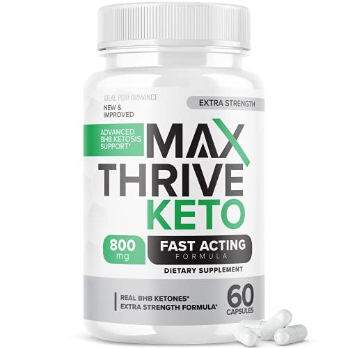 Max Thrive Keto Pills Fast Acting Advanced Energy Ketones (60 Capsules)