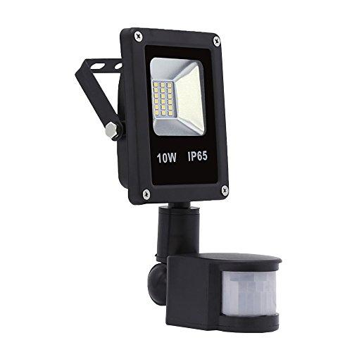 Hengda Faretto Faro LED a luce bianca con sensore di movimento luci di sicurezza con PIR, impermeabile per casa, giardino, garage waterproof IP65