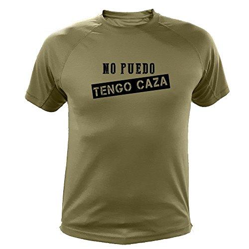 Camiseta de Caza, No Puedo Tengo Caza - Regalos para Cazadores (30176, Verde, M)