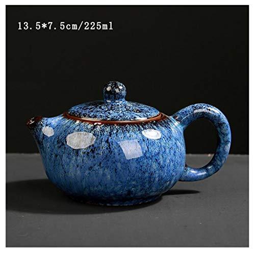 Teiera in ceramica insieme di tè Celadon Yixing ceramica Arts cinese teiera in porcellana Yixing argilla antico Office Home teiera (Color : Blue)