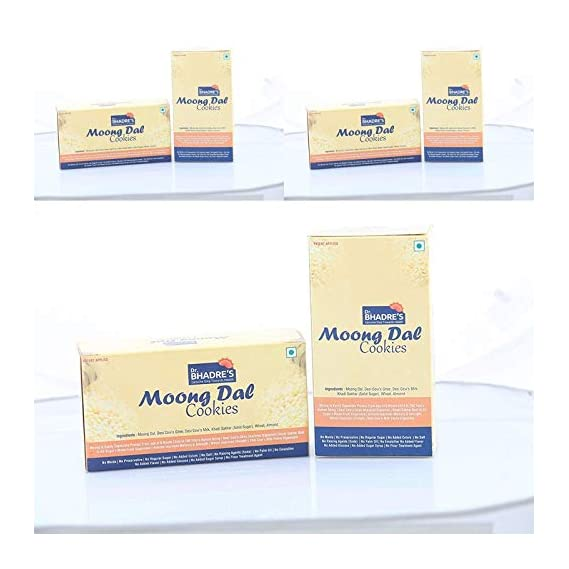 Dr.BHADRE'S Popular Moong Dal Cookies (Pack of 3)