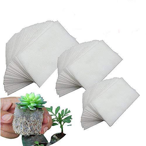 250 Piezas Biodegradable No tejido Bolsas de Guardería, Tela Macetas de Plántulas Bolsas de...