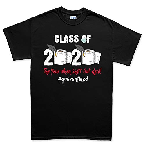 Customised Perfection Class of 2020 Quarantined Toilet Paper Funny T Shirt Tee T-Shirt for Men Women Unisex Black L