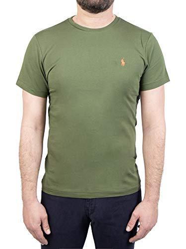 Photo of Polo Ralph Lauren Mod. 710671438 T-Shirt Crew Neck Short Sleeves Cotton Custom Slim Fit Man Green XL