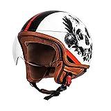 NONGKA Certificación Dot Casco de Motocicleta Casco de Cara Abierta Scooter Moto Jet Cascos Moto Crash Jet Casco para jóvenes Hombres Mujeres Adultos