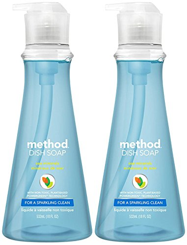 Mejor Method Clementine Dish Soap, Pump Bottles, 18 Fl Oz, Pack of 6 crítica 2020