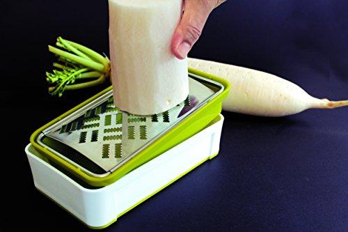 サンクラフト快菜スーパーおろし器グリーンホワイト