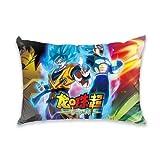 ZESEDE Dragon Ball Super Federa per Cuscino Morbida Fodera per Cuscino Decorativa per Bambini per Divano e Letto 50x75cm