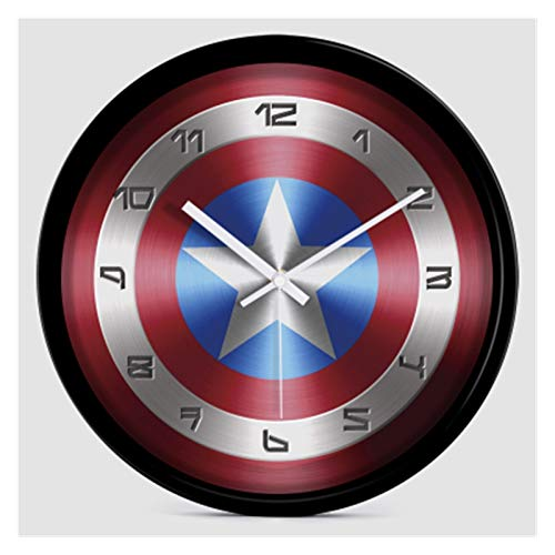jsobh Despertador para niños 12 Pulgadas Silent Dibujos Animados Super Hero Avenger Wall Reloj Colorido Moderno Habitación Niños Habitación Cocina Cocina Decorativo (Color : 20, Sheet Size : 12 Inch)
