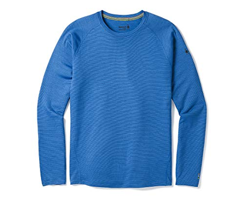 Smartwool Men's Long Sleeve Shirt - Merino 150 Wool Baselayer Pattern Performance Top Bright Cobalt