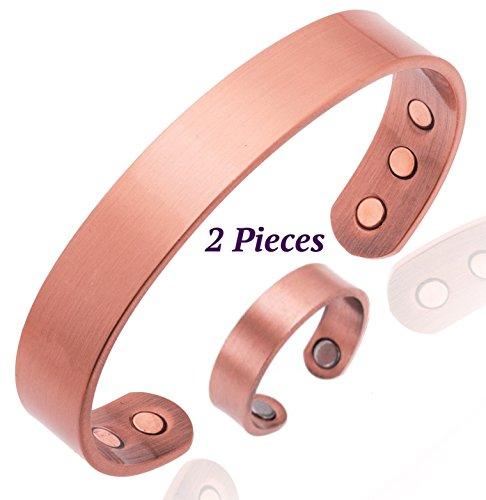 Pulsera de cobre para la artritis Magnética Hombres o mujeres INCLUYE anillo...