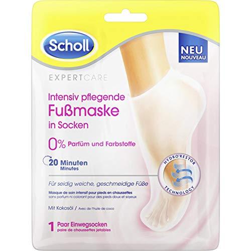 Scholl Expert Care Intensiv pflegende Fußmaske in Socken - 1 Paar Einwegsocken - Hornhaut Entfernung