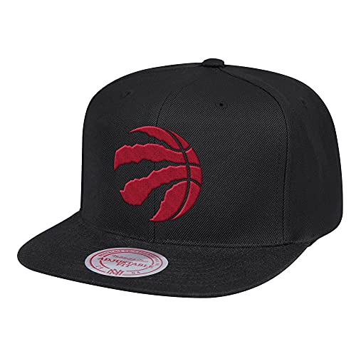 Mitchell & Ness Wool Toronto Raptors - Gorra de béisbol, color negro y rojo