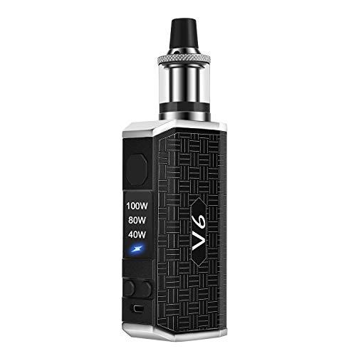 Cigarette Electronique, Cigarette Electroniques 100W V6 Box Mod Batterie Cigarette électronique Kit complete e-cig Sans nicotine ni tabac