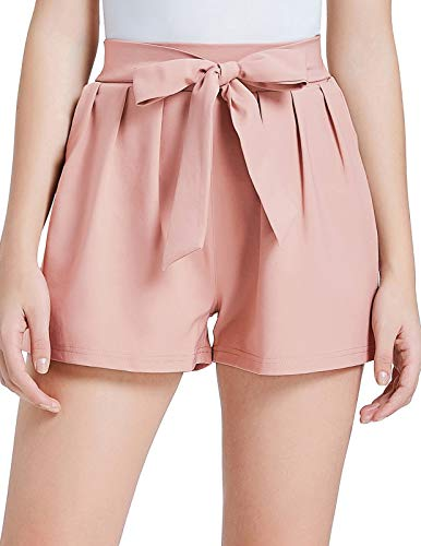 GRACE KARIN Women High Waist Solid Summer Casual Shorts S Pink