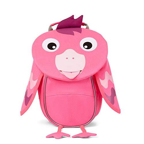 Affenzahn Kleiner Freund - Kindergartenrucksack für 1-3 Jährige Kinder im Kindergarten und Kinderrucksack für die Kita - Flamingo Neon - Rosa