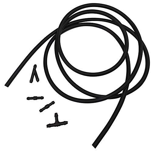 Parabrisas Universal del Coche del Caucho Lavadora Boquilla de Fluido Manguera de Agua Conectores de Tubo 5pcs / Set 2M Limpiaparabrisas (Color : Black)