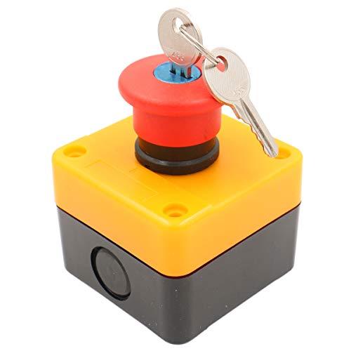 Heschen panneau rouge interrupteur d'arrêt d'urgence résistant aux intempéries interrupteur à bouton-poussoir 660V 10A avec boîte et clé