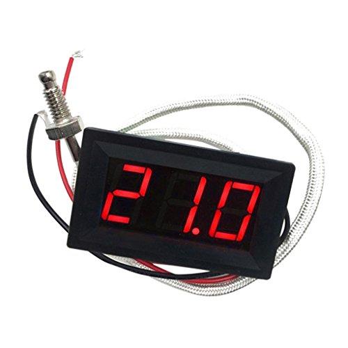 -30-800 ℃ Grad Celsius Thermometer Digital-LED Auto-Temperatur-Messinstrument -Monitor-Anzeige Tester Temp Panel Meter Spur 12V ± 2V Angetrieben, Temperaturgenauigkeit: ± 0,3 ℃ Grad Celsius - rot