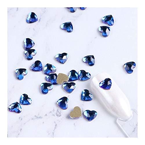 SSGLOVELIN 10pcs 3D Cristal Nail Strass Strass à Fond Plat Love Heart Glitter Diamant Manucure Gems Outil De Décoration Accessoires Très Beau (Color :