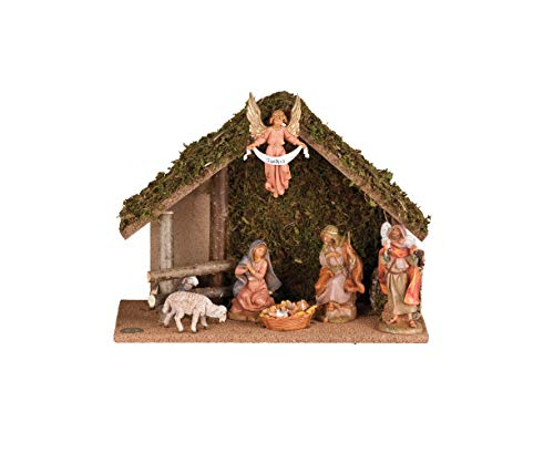 Fontanini - 7 Figure Nativity with Italian Stable, for 5