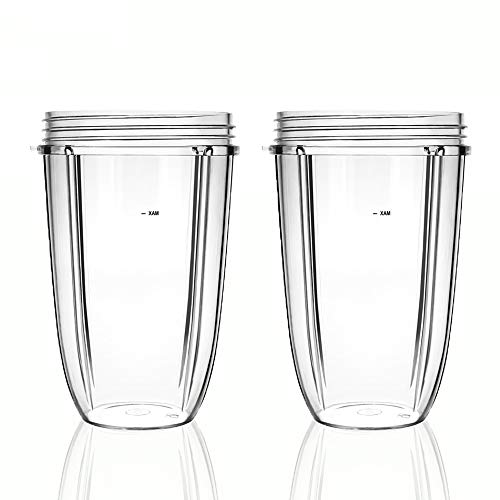 QueenTrade 2pcs 24OZ Replacement Tall Cup For Nutri bullet 600w 900w Blender Mixer Replacement Parts