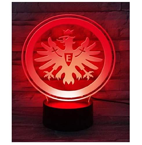 Eintracht Frankfurt LED Lampe, Leuchte Logo SGE - Plus Lesezeichen I Love Frankfurt