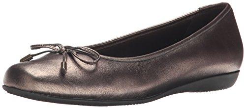 Trotters Sante Mujer US 7.5 Oro Grande Zapatos Planos
