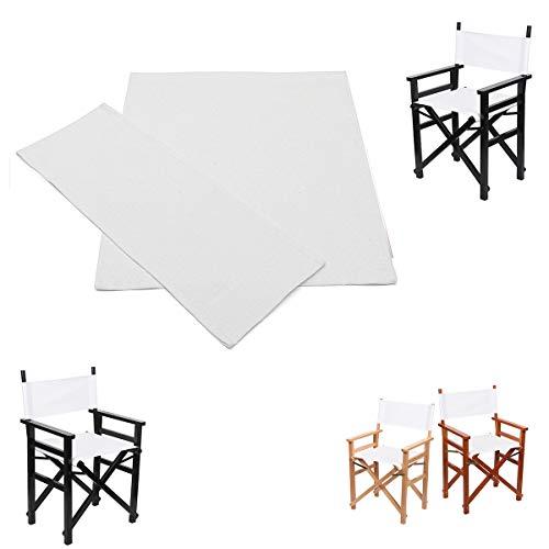 Vvciic - Lienzo de repuesto para silla director, funda de silla de director, asiento de lona y respaldo de algodón, protector de taburetes para el hogar