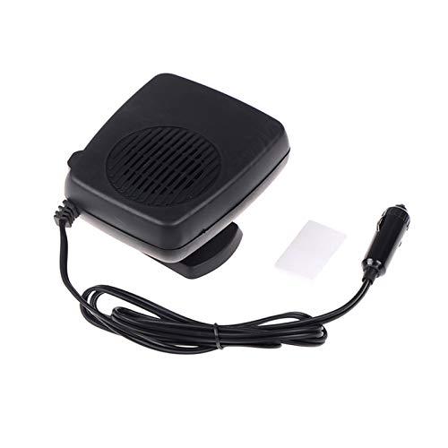 LJQSS Durable 200W 12V Calentador de Vidrio Mini para el Coche eléctrico Ventilador calentado Windows Windows Defroster Defog Dashboard Fan de enfriamiento 13 * 10 cm Peso Ligero