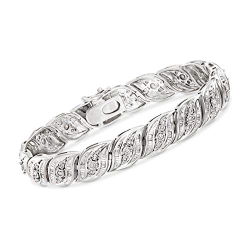 Ross-Simons 1.00 ct. t.w. Diamond Bracelet in Sterling Silver. 7 inches