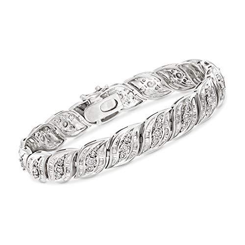 Ross-Simons 1.00 ct. t.w. Diamond Bracelet in Sterling Silver. 7...