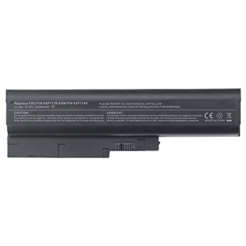 New Laptop Battery for Lenovo Thinkpad T60 T60p T61 T61p R60 R60e R61 R61e R61i T500 R500 Li-ion 6 Cell 10.8v 5200mAh/49wh Bay Valley Parts